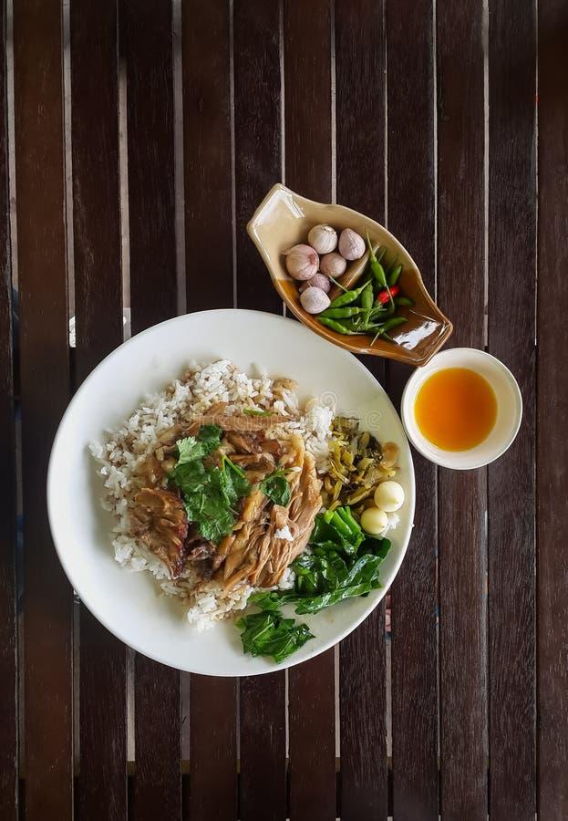 Stewed pork leg rice version1 royalty free stock image