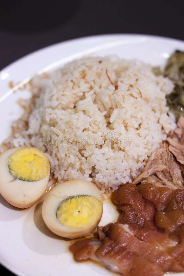 Download Stewed Pork on with Rice stock image. Image of rice, meal - 26376431