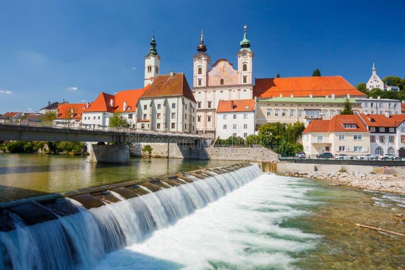 Steyr, van Oostenrijk, van Steyr en Enns-rivieren royalty-vrije stock foto's