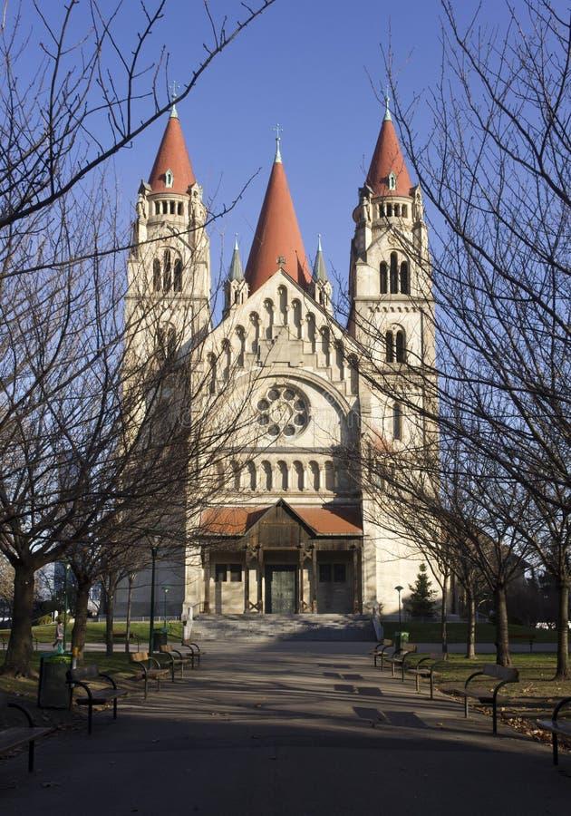 StFrancis Assisi kościół w Vienn zdjęcie royalty free