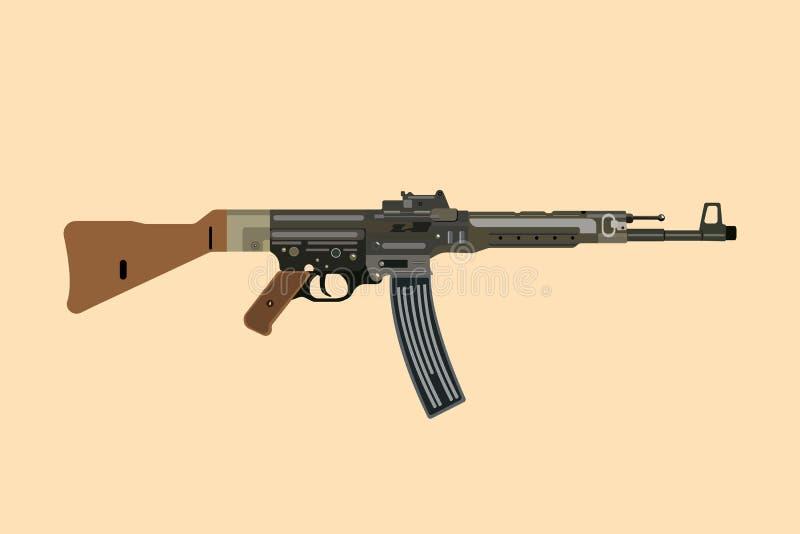 Stg alemán 44 del rápido del arma ww2 ilustración del vector