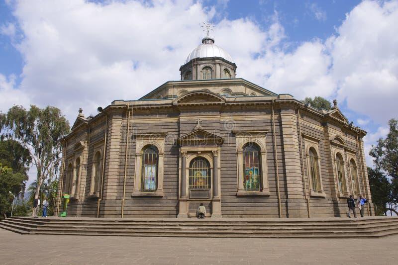 StGeorgeskathedraal in Addis Ababa, Ethiopië stock foto's