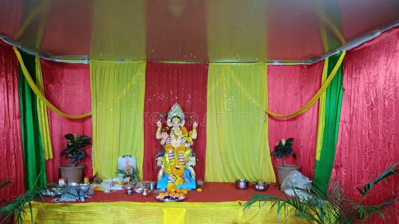 Sthapna von Ganesh-chaturthi Feier stockbilder