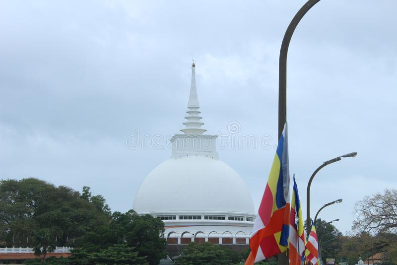 Sthupa di Kaluthara in Sri Lanka fotografia stock