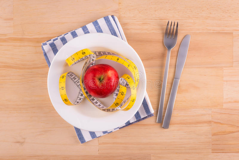 Stia il concetto a dieta fotografie stock libere da diritti