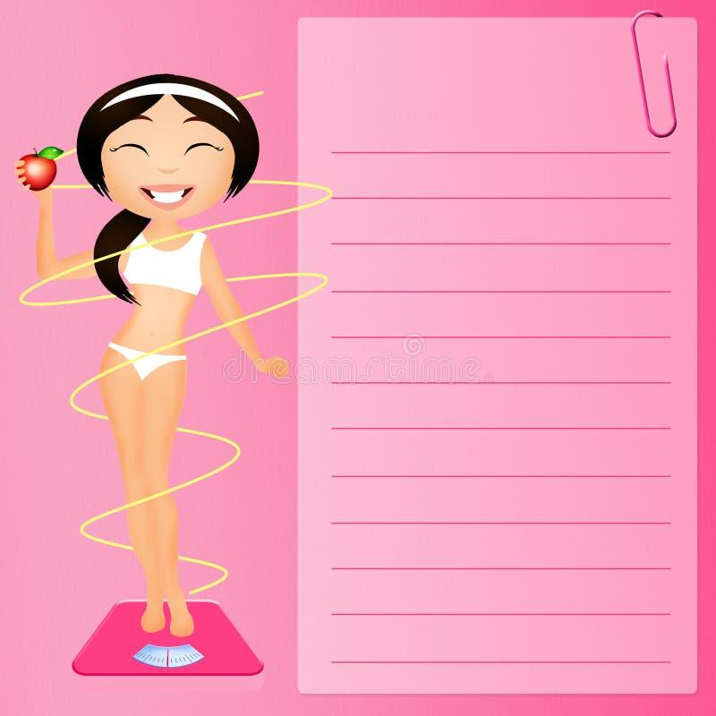 Stia il diario a dieta illustrazione vettoriale