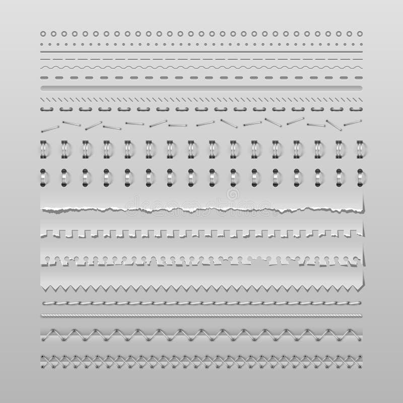 Stiche und Teiler lizenzfreie abbildung