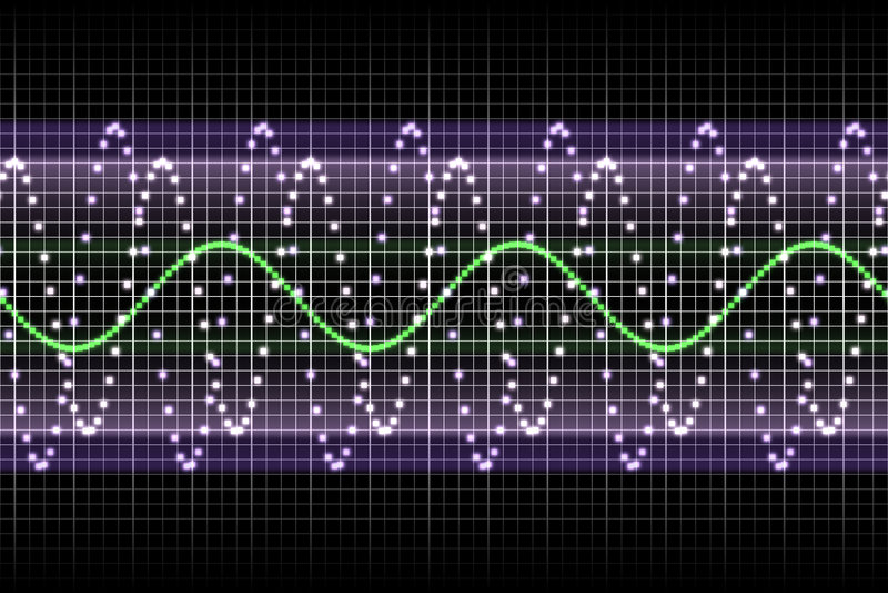 Stichhaltige Entzerrer-Rhythmus-Musik-Schläge stock abbildung