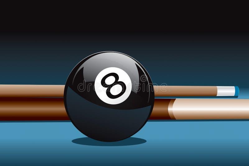 stick för 8 boll stock illustrationer