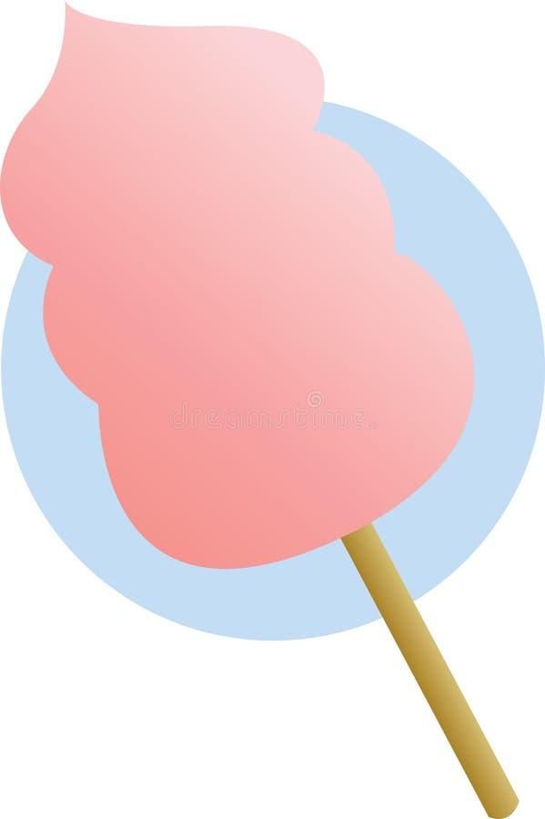 stick för pink för godisbomullsillustration vektor illustrationer