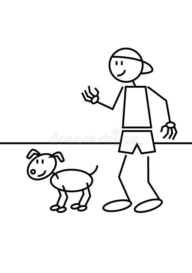 Download Stick Figure Dog Royalty Free Stock Images - Image: 34610319
