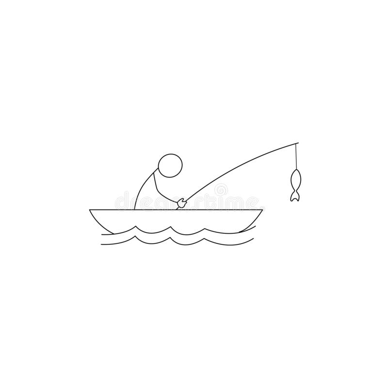 Fisherman Icon Vector Stock Vector. Illustration Of Male