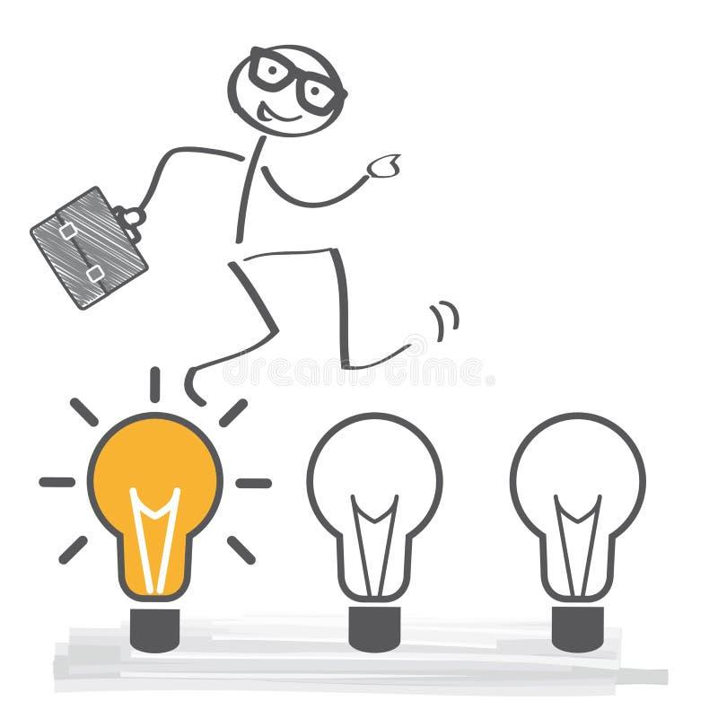 Businessman with ideas vector illustration