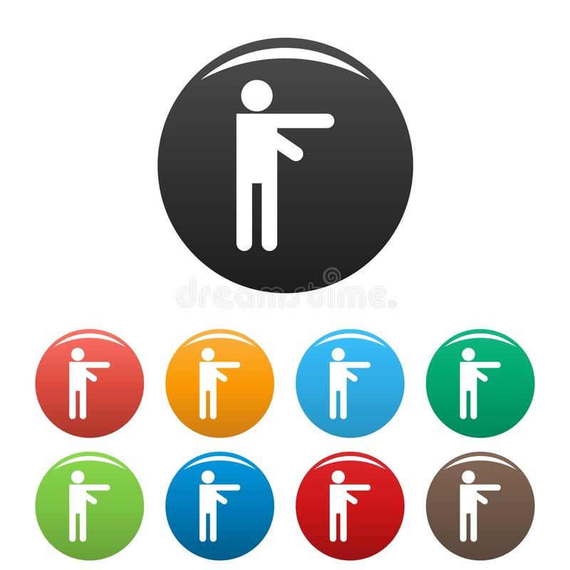 Stick figure stickman icons set pictogram vector simple vector illustration