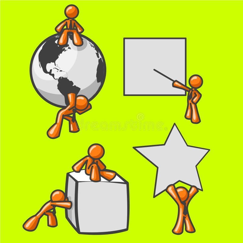 Stick figures. Illustration of various stick figures doing various activities vector illustration