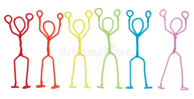 Download Stick Figures Stickup - Arms Raised Overhead Royalty Free Stock Images - Image: 16462979
