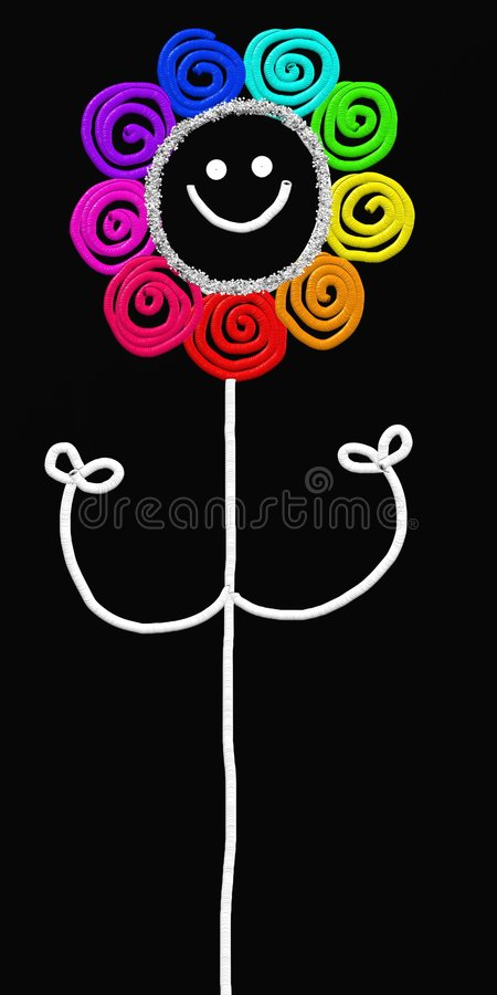 Stick flower royalty free illustration