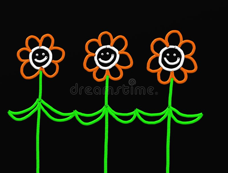 Stick flowers vector illustration