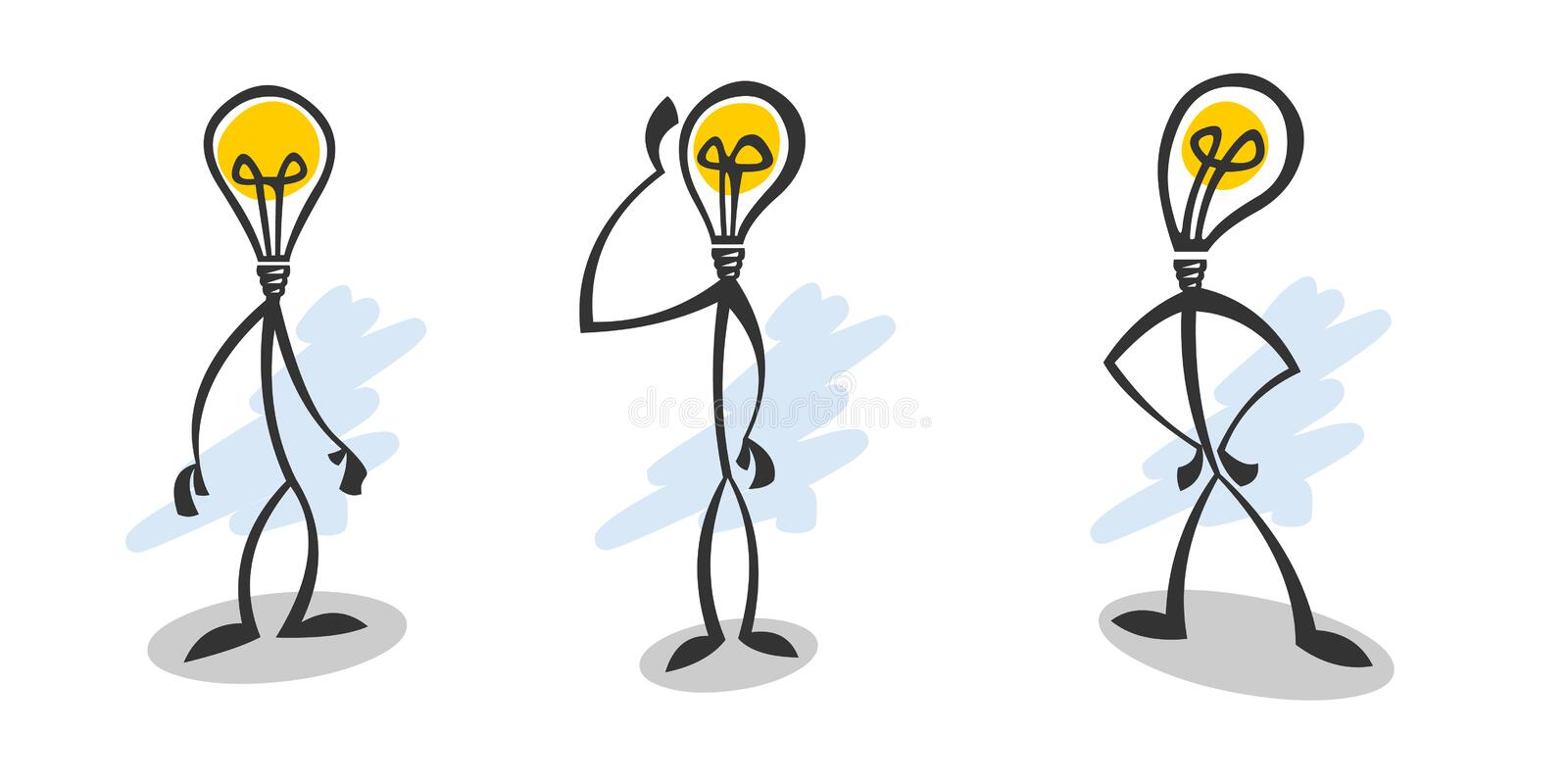 Stick lamp guy stock photos
