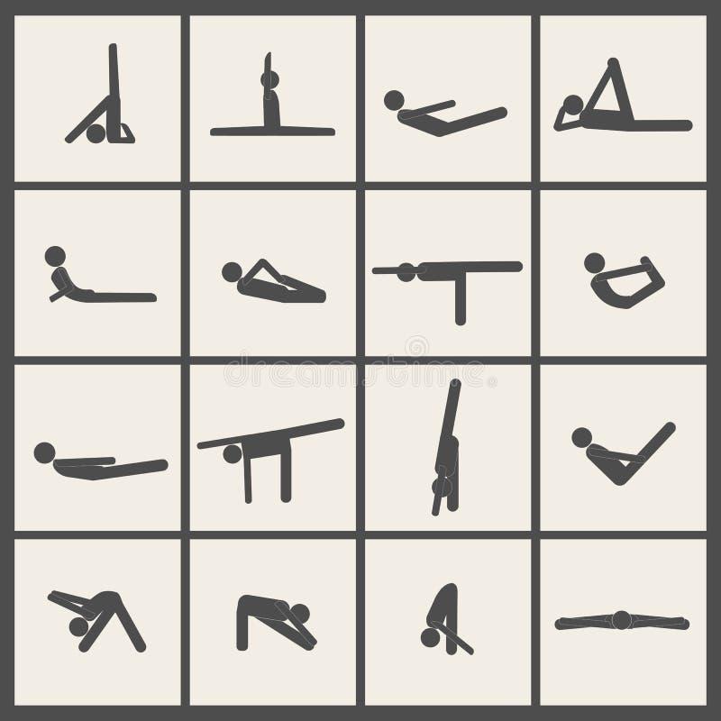 Stick man crowd and yogi vector illustration