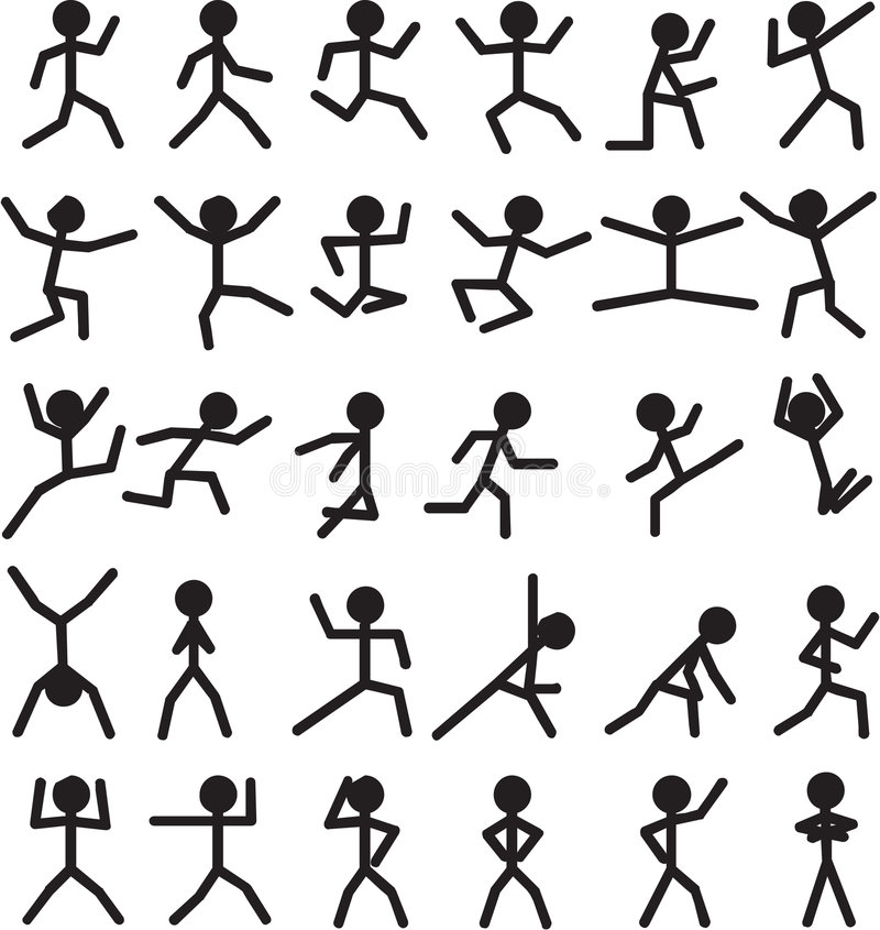 Free Stick Man Figures Royalty Free Stock Photography - 5911827
