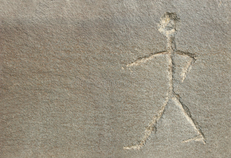 Download Stick Man on Stone stock illustration. Image of textured - 1714077