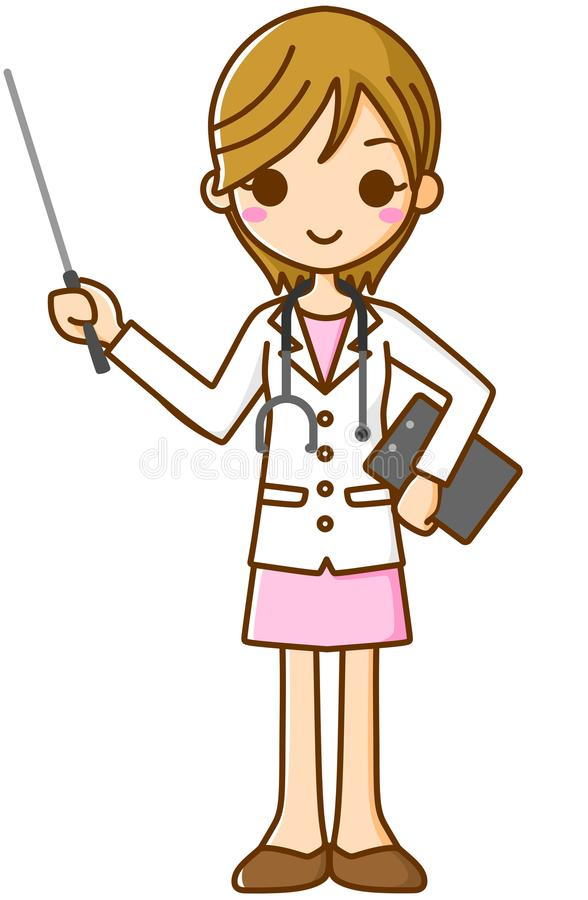 Stick med doktorn vektor illustrationer