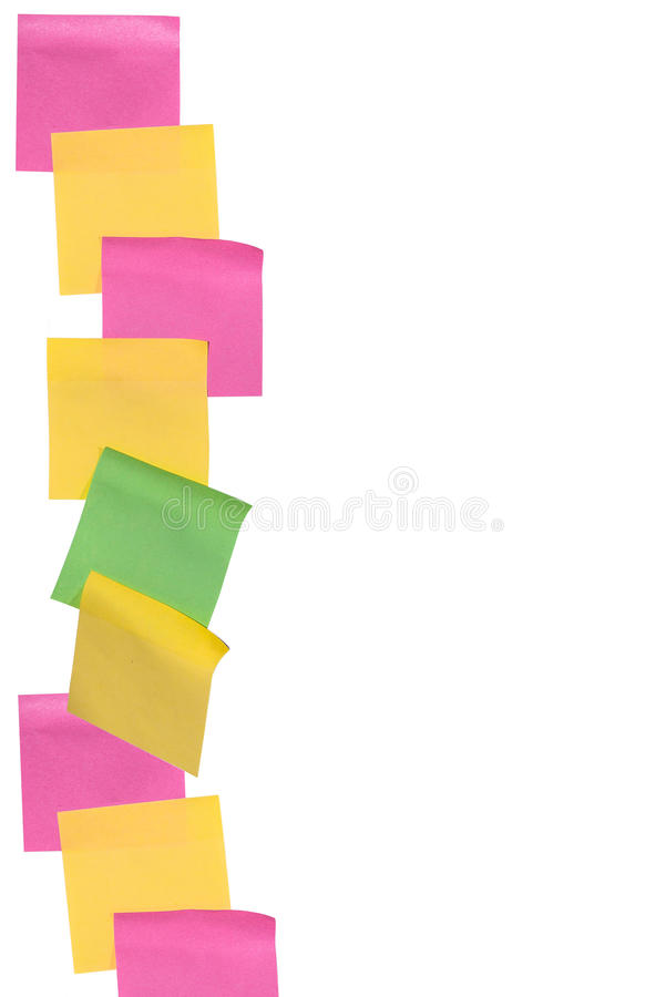 Stick note paper on isolated white background stock photo