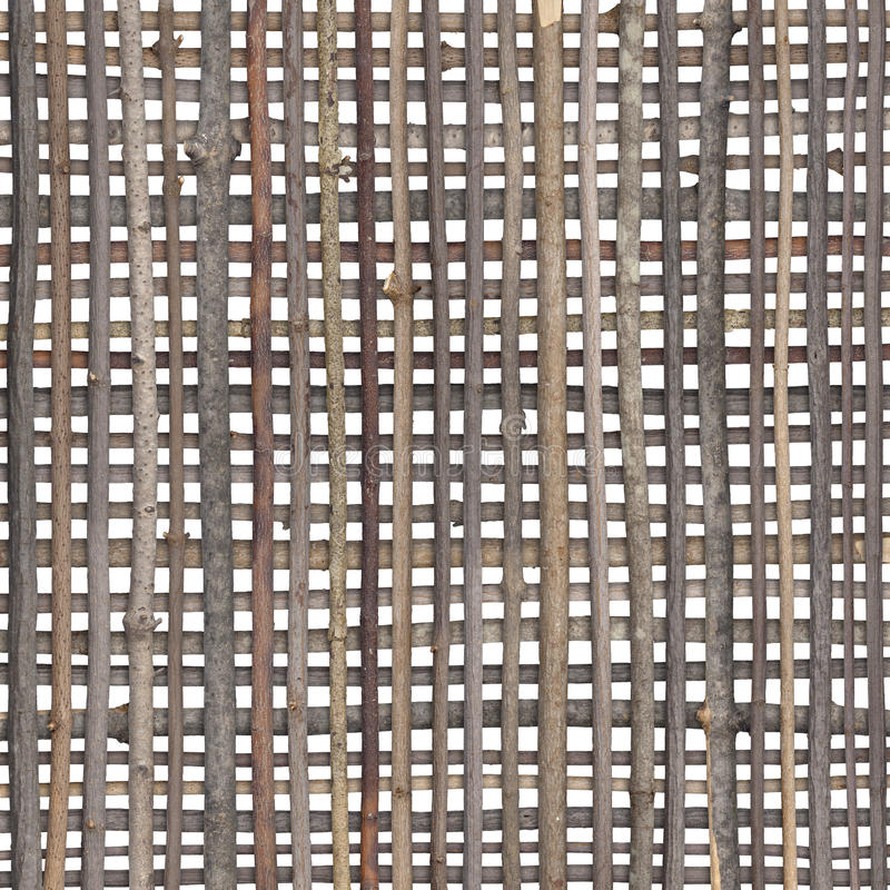 Stick Pattern. Crosshatch pattern with sticks isolated on white royalty free stock photography