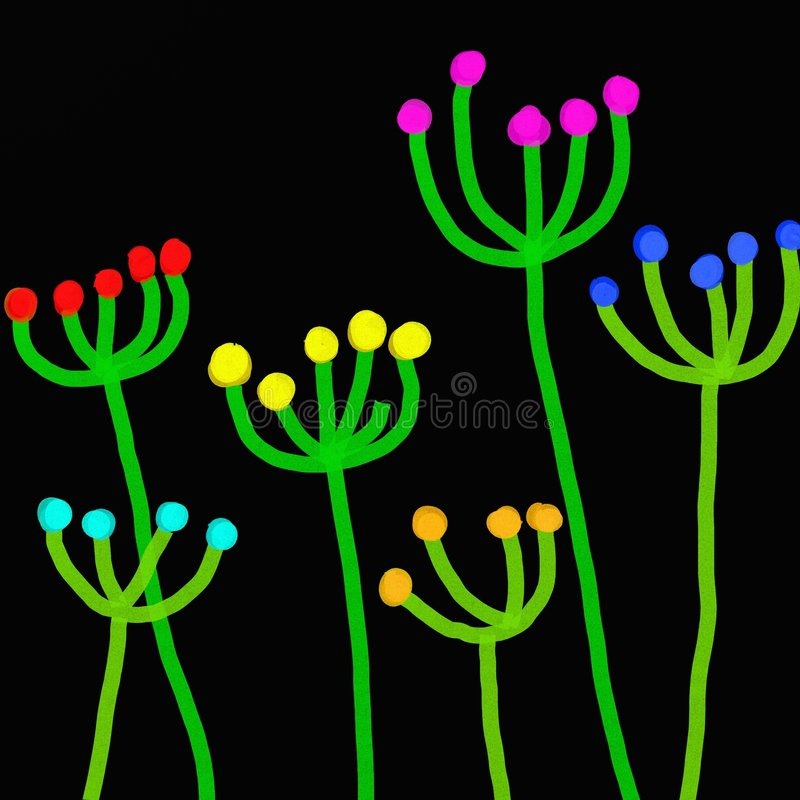 Stick plants vector illustration