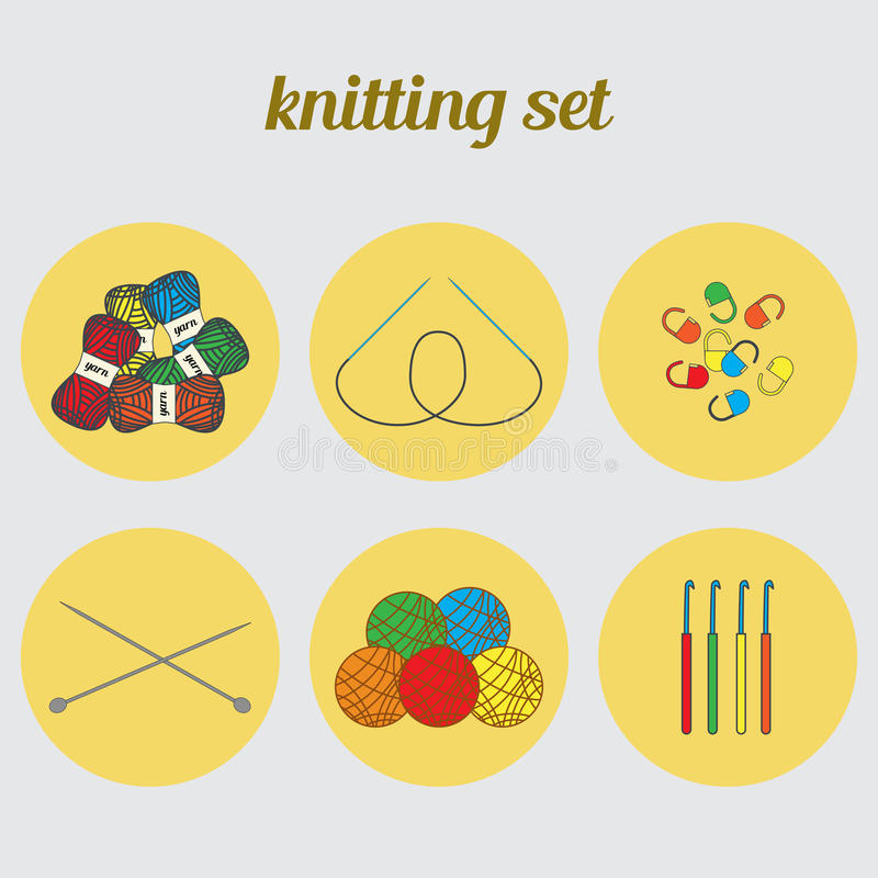 Sticka fastställda symboler stock illustrationer
