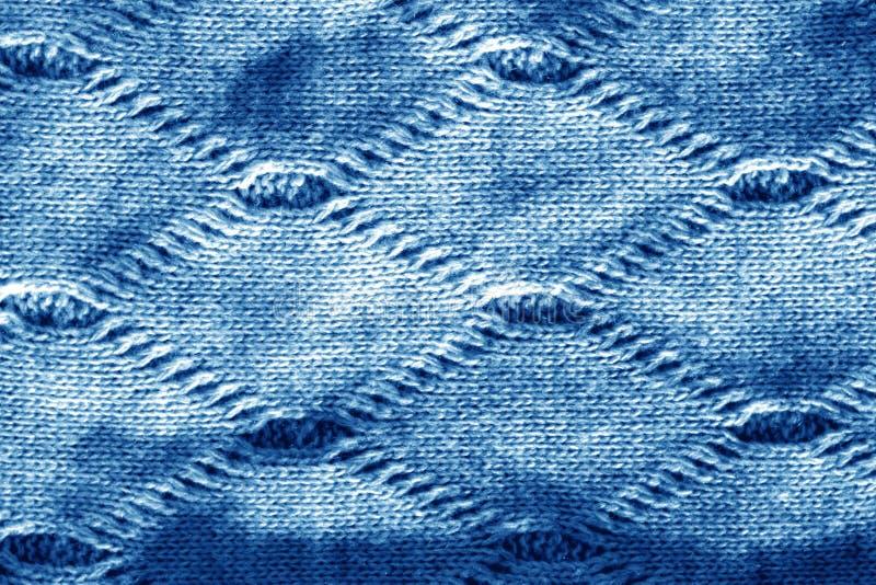 Sticka textur i marinblå signal royaltyfria foton
