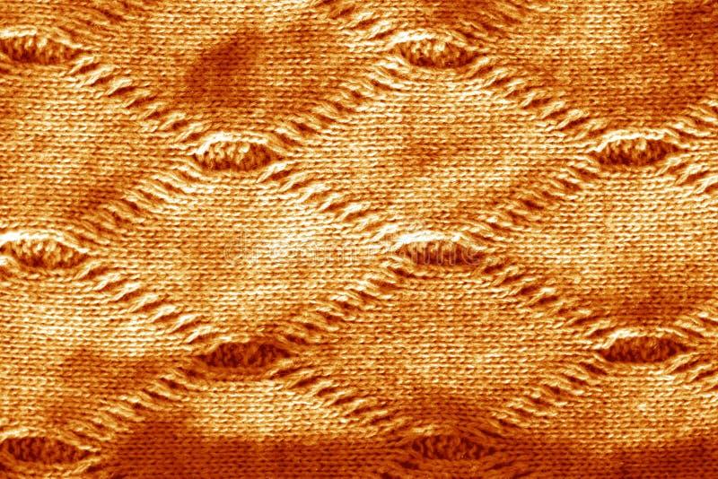 Sticka textur i orange signal arkivfoto