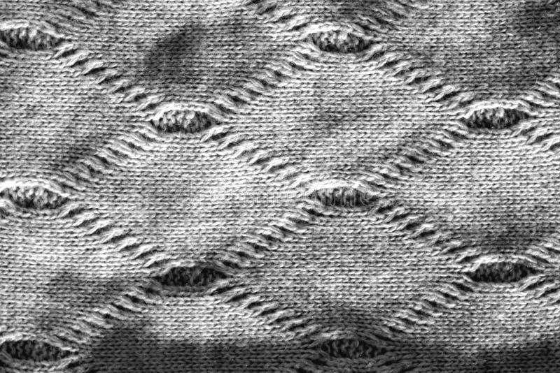 Sticka textur i svartvitt arkivfoto