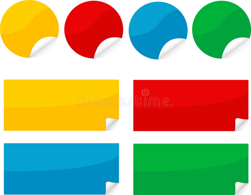 Sticker royalty free illustration