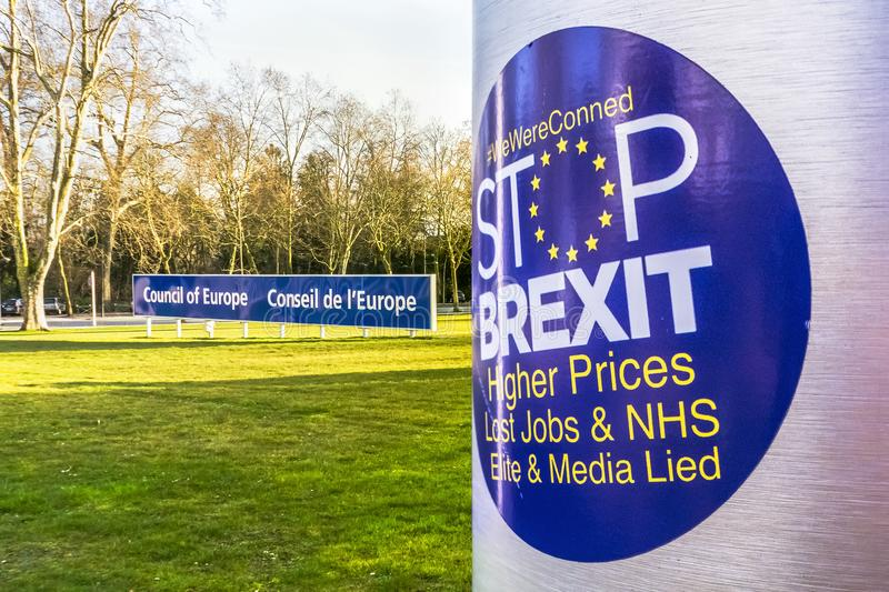 Sticker anti-Brexit royalty-vrije stock fotografie