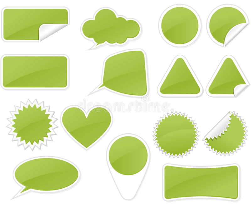 Download Sticker Badge stock vector. Image of triangle, rectangle - 18573281