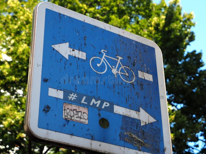 LMP hashtag on road sign post royalty free stock photography