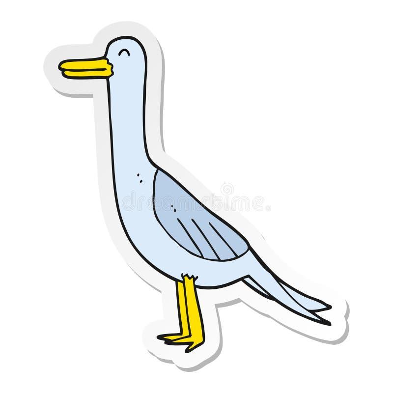 Sticker of a cartoon bird. A creative sticker of a cartoon bird vector illustration