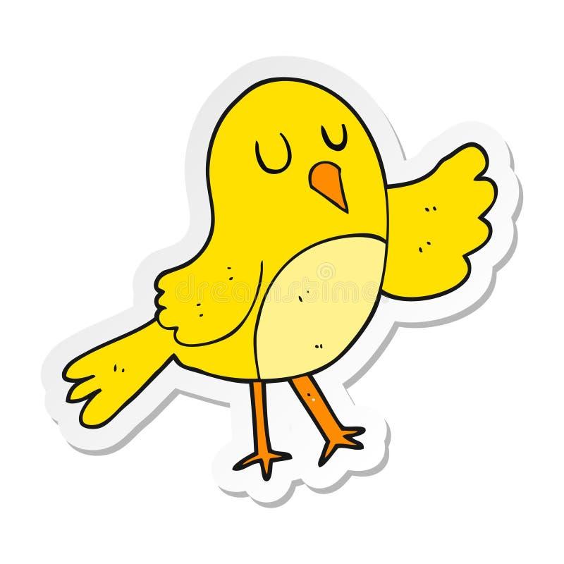 Sticker of a cartoon bird. A creative illustrated sticker of a cartoon bird vector illustration