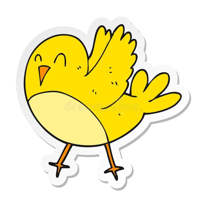 Sticker of a cartoon bird. Illustrated sticker of a cartoon bird vector illustration