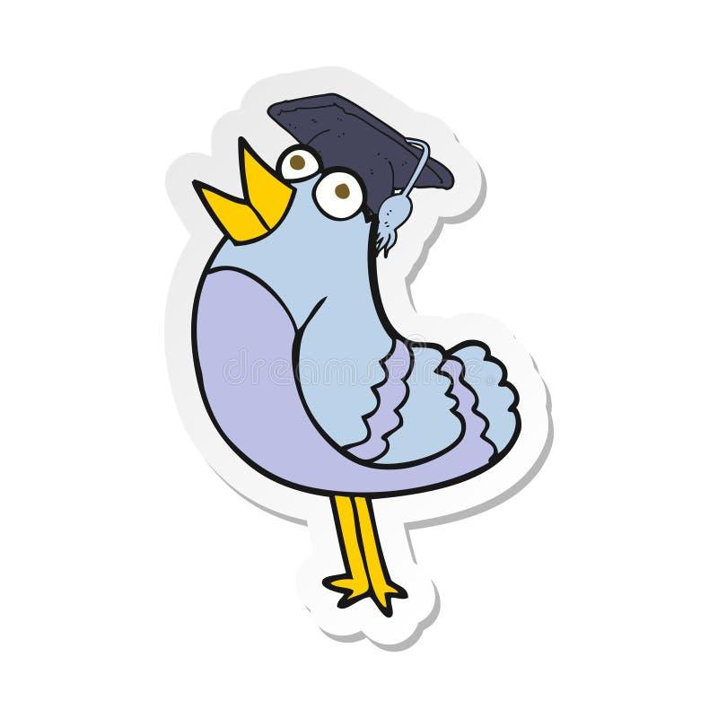 Sticker Cartoon Bird Animals Graduation Cap Hat Drawing