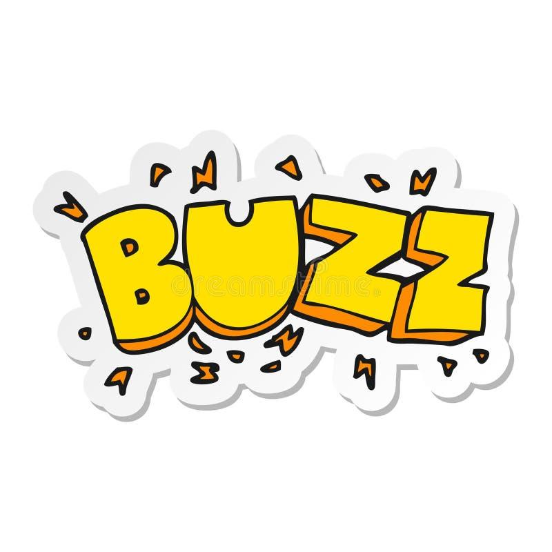 sticker of a cartoon buzz symbol vector illustration