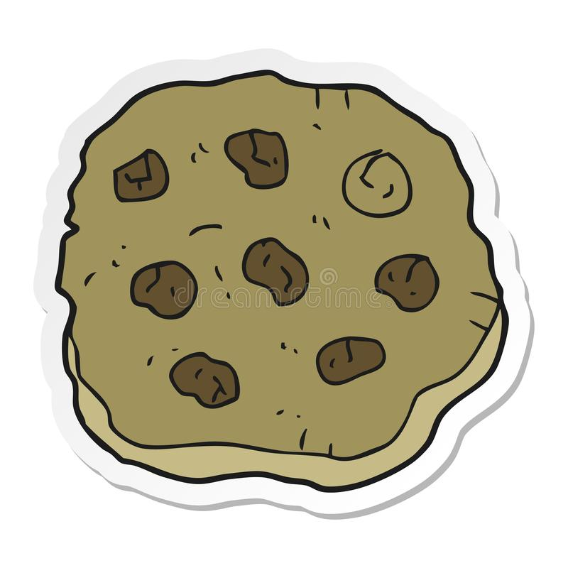Sticker of a cartoon cookie. A creative sticker of a cartoon cookie stock illustration