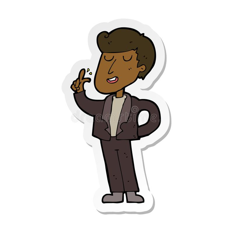 Sticker of a cartoon cool guy snapping fingers. A creative illustrated sticker of a cartoon cool guy snapping fingers vector illustration