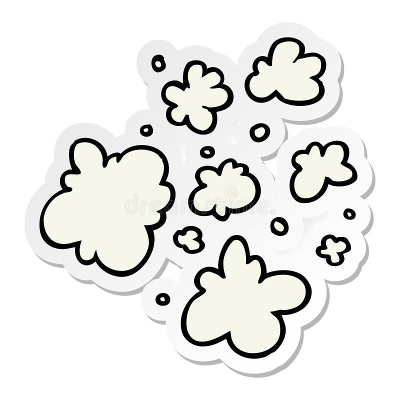 sticker of a cartoon decorative smoke puff elements stock illustration