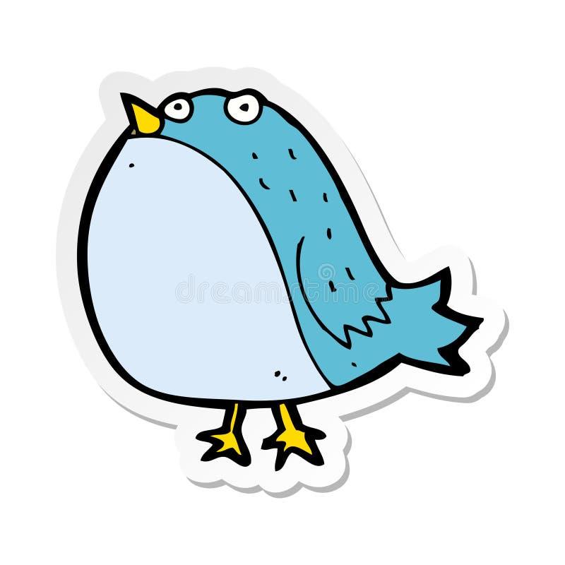 Sticker of a cartoon fat bird. A creative sticker of a cartoon fat bird stock illustration