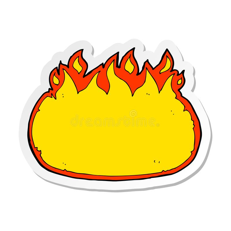 Sticker of a cartoon fire border. A creative illustrated sticker of a cartoon fire border royalty free illustration