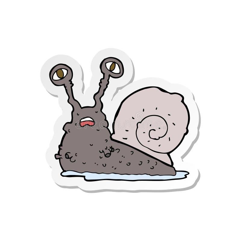 sticker of a cartoon gross snail stock illustration