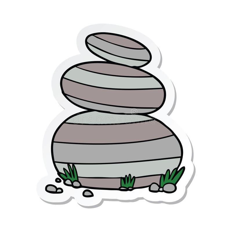 Rock Stone Land Heavy Nature Landscape Cartoon Sticker Stick Icon